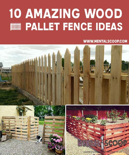 10 amazing wood pallet fence ideas page 2 of 3 mental for Wood pallet fence plans