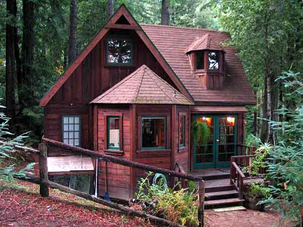 Tranquil Redwood Cabin