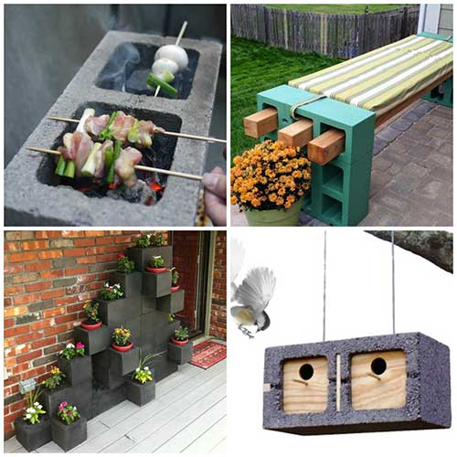 33 Amazing Ideas That Will Make Your House Awesome: 20 Creative Cinder Block Projects To Make Your Home And