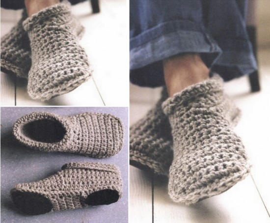 How To Crochet Warm And Cozy Slipper Boots | Free Pattern - Mental Scoop