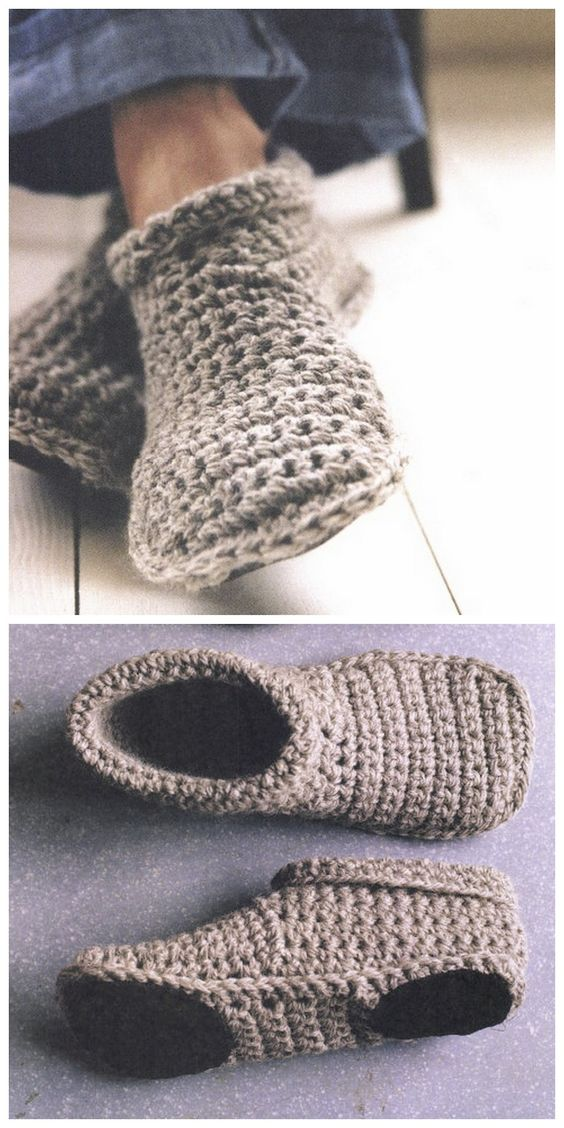 How To Crochet Warm And Cozy Slipper Boots Free Pattern Mental Scoop